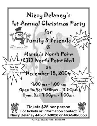 Christmas Party Flyer Sample http://www.410global.com/printsamples.html